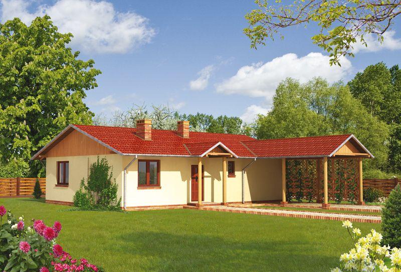 Домик с дополнительно пристроенной террасой