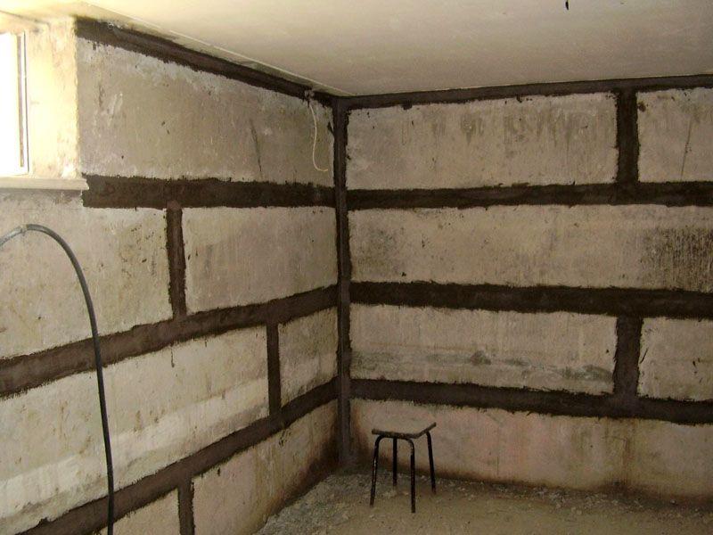 Вид подвального этажа изнутри