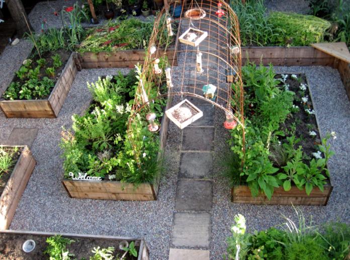 Как сделать интересные грядки на огороде