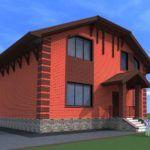 Кирпичный дом с мансардным этажом