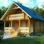 Дачный деревянный коттедж
