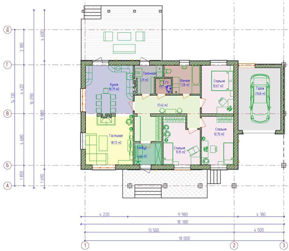 Вариант планировки комнат