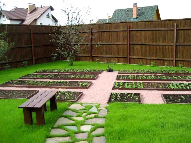 Традиционный вариант проектирования огорода