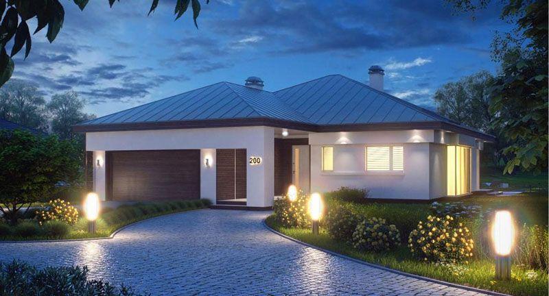Удачное расположение постройки с красивыми дорожками и освещением