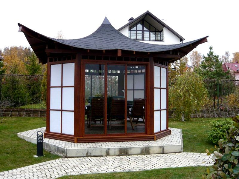 Закрытая постройка в японском стиле