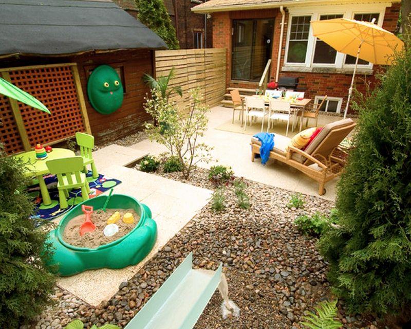 Зона отдыха и площадка для детей располагаются поблизости