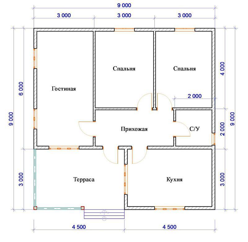 Расположение комнат с двумя спальнями