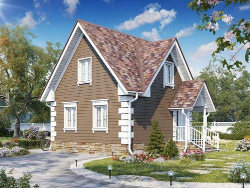 Выбираем дом с мансардой: проекты, фото готовых решений