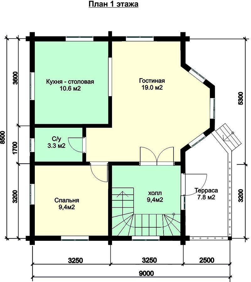 Пространство первого этажа