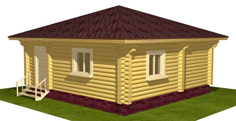 Вариант 3D проектирования внешнего облика дома