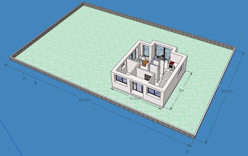3D моделирование расположения дома на участке