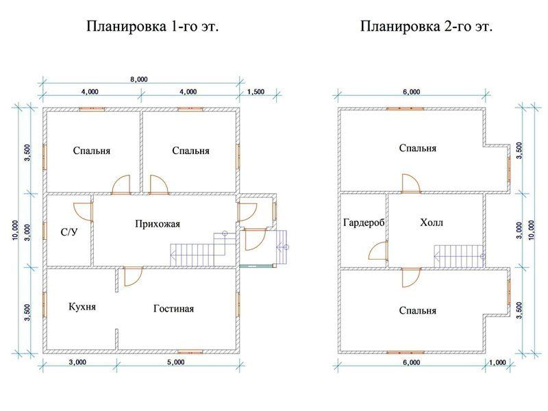 Один из планов расположения комнат