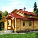 Деревянная конструкция, где под жилое помещение отдана только часть крыши
