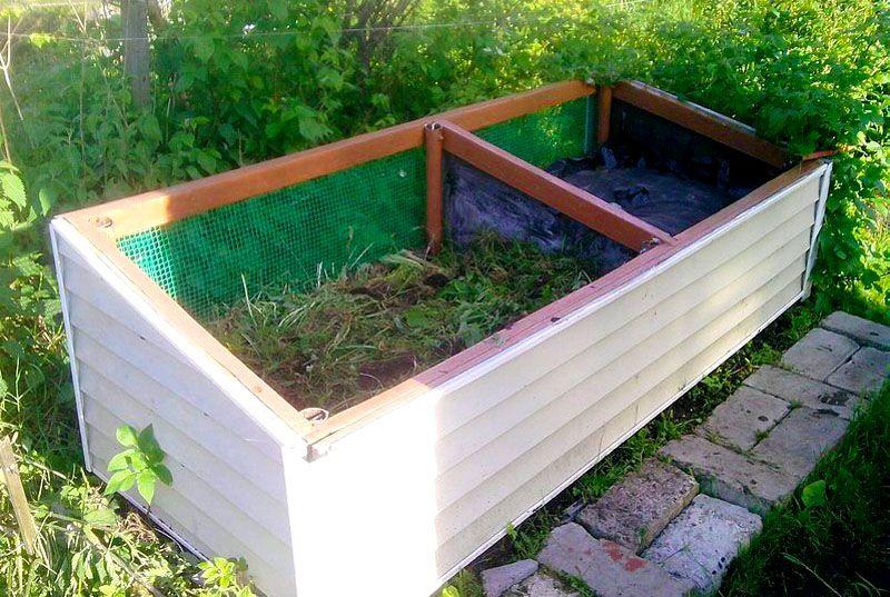 Обустроенная компостная яма