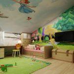 Мансардный этаж может быть уютной детской
