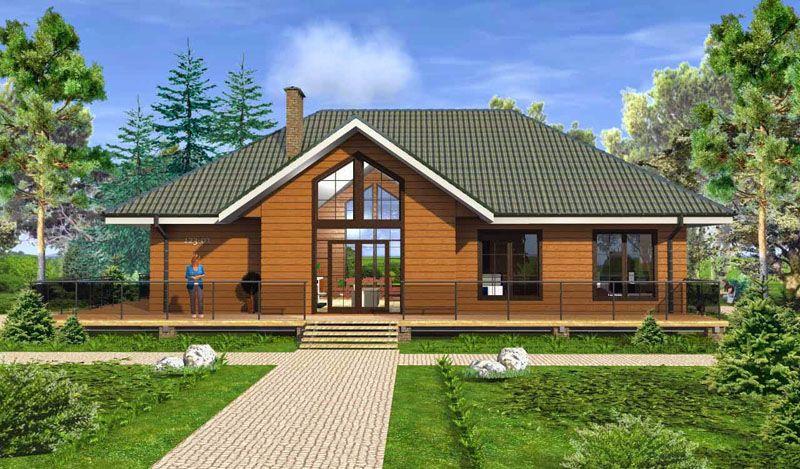 Проект деревянного дома в стиле Шале