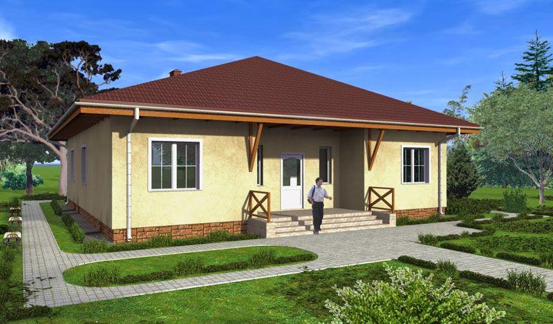 Классический пример одноэтажного дома