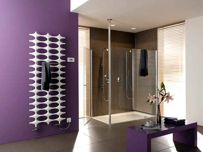 В ванной не просто конвектор- это произведение искусства