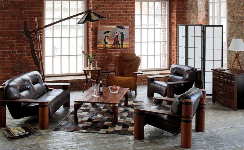 Так выглядит мебель в стиле Лофт