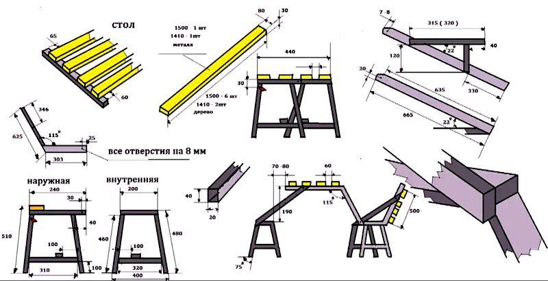 Скамья-трансформер