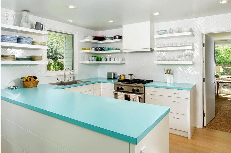 Фотография интерьера кухни 10 кв. м