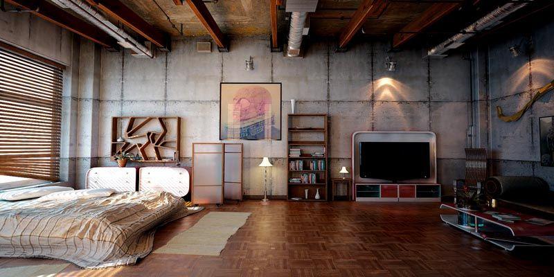 Так выглядит квартира-студия в стиле Лофт