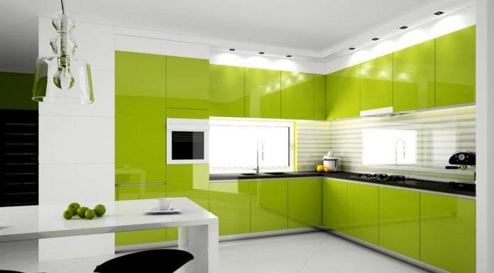 Зеленая кухня в интерьере ассоциируется со свежестью