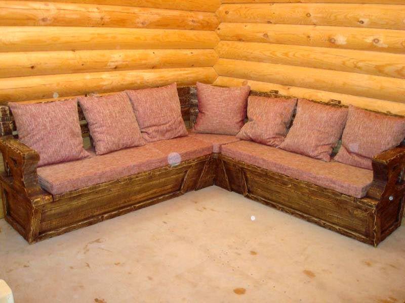 Угловой диван на дачу своими руками