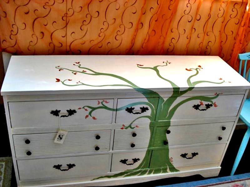 С помощью краски можно нанести необычные орнаменты