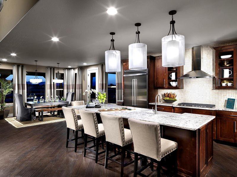 Освещение на кухне, фото в интерьере