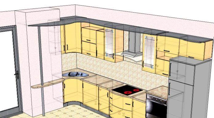 Реалистичный макет в формате 3D поможет рациональным образом использовать объем корпусной мебели