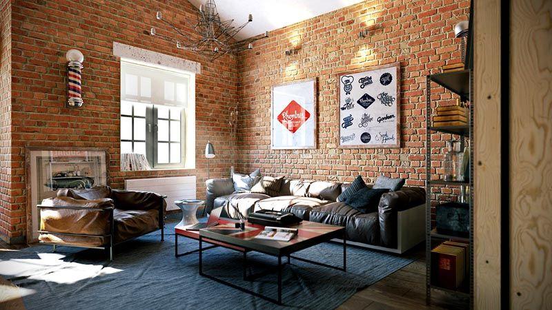 Картины украшают голую кирпичную стену и создают уютную атмосферу