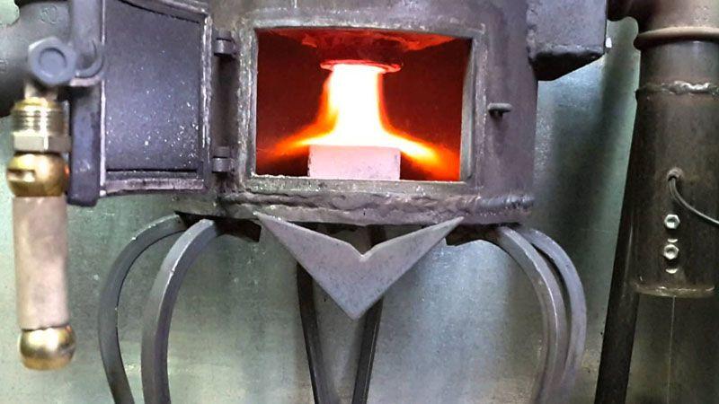 Так горит пиролизный газ в котле
