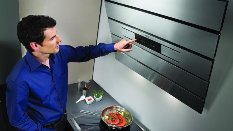 Необычный дизайн для кухонной вытяжки