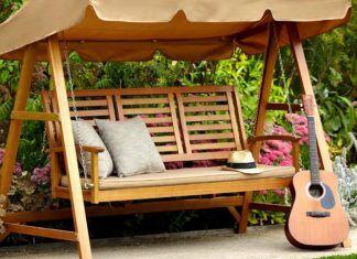 Садовая скамейка со спинкой своими руками