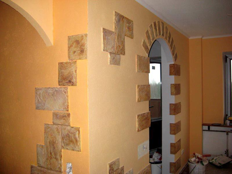 понятия как украсить оштукатуренную стену в коридоре фото это время