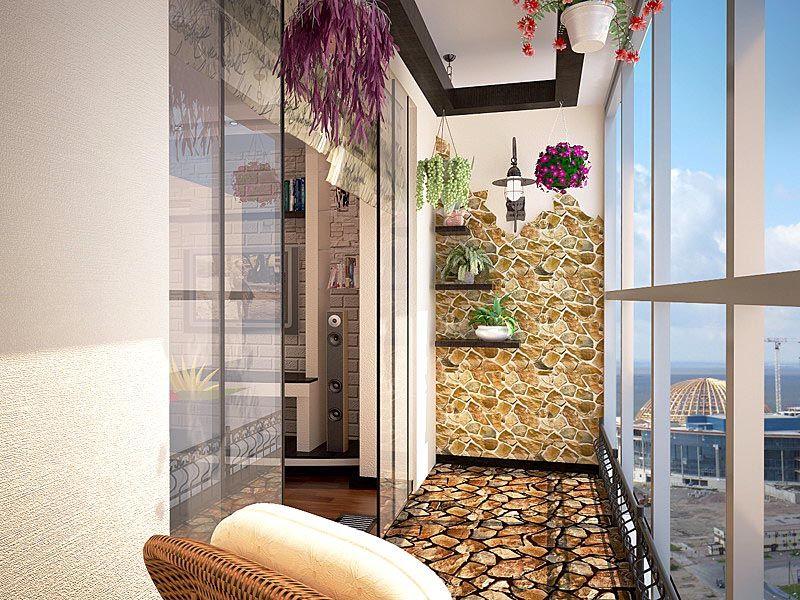 Дизайн для застекленного помещения