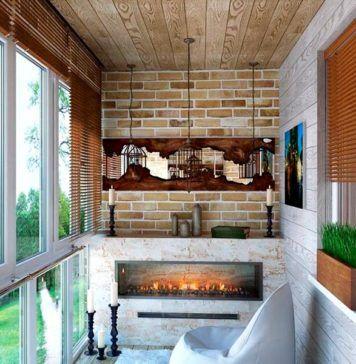 Отделка балкона внутри: фото