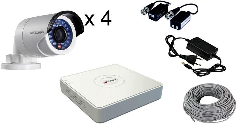 Комплекты видеонаблюдения на 4 камеры для улицы – отличное решение для небольшого приусадебного участка
