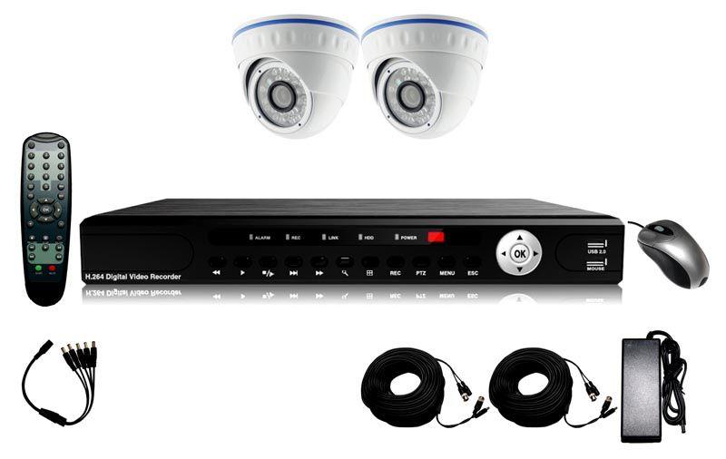 Покупка комплекта видеонаблюдения на 2 камеры для дома – отличный выбор для контроля небольшого участка на входе в помещение