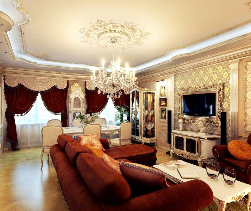 Мебель в гостиную в классическом стиле