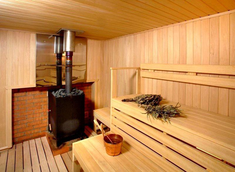 Печи для бани на дровах с баком для воды