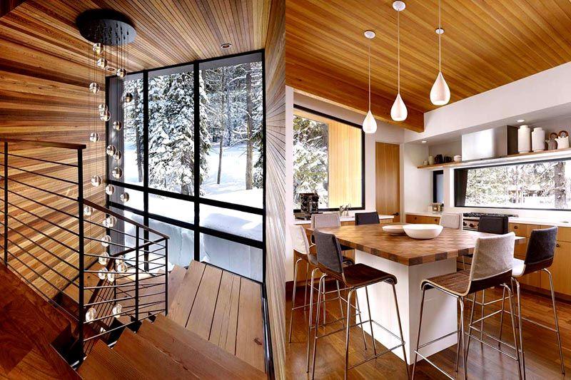 Потолок над рабочей зоной на кухне