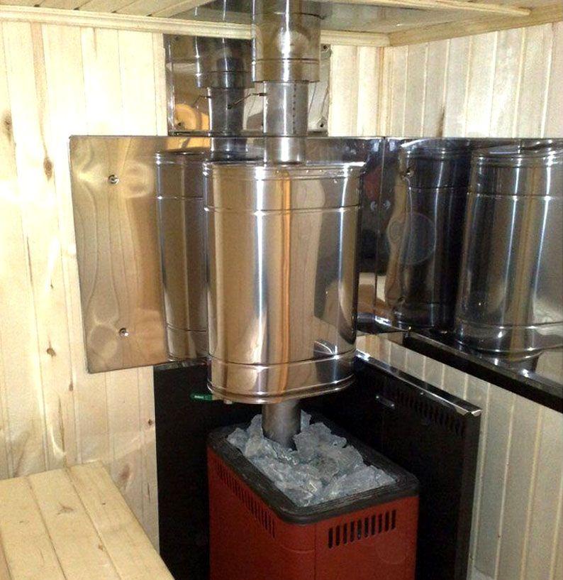Водяной бак на дымоходной трубе