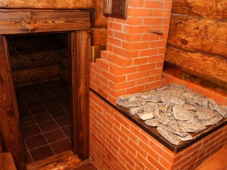 Печь для бани из кирпича по черному