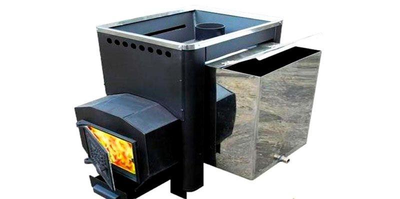 Печь с водяным баком сбоку