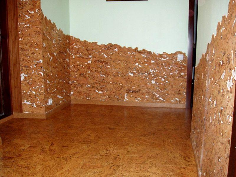 Пробковый материал актуален для нестандартных интерьеров