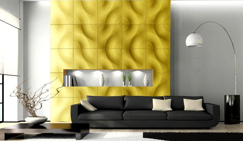Объемные изображения можно использовать для отдельной части стены