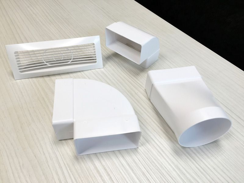 Детали воздуховода из пластика