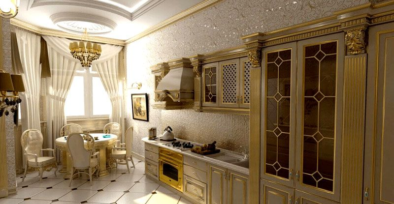 Кухня с позолотой